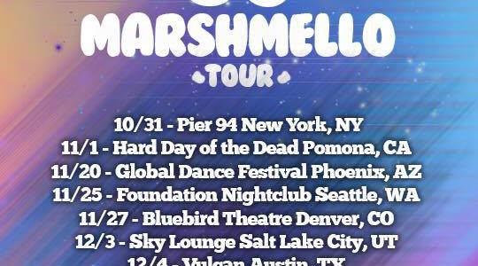 Marshmello Anounces First Official North America Tour