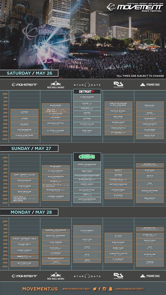 movement 2018 schedule